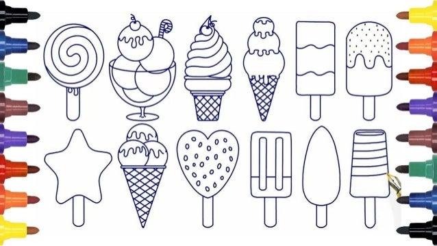 Сладолед - книжка за оцветяване Slide 3