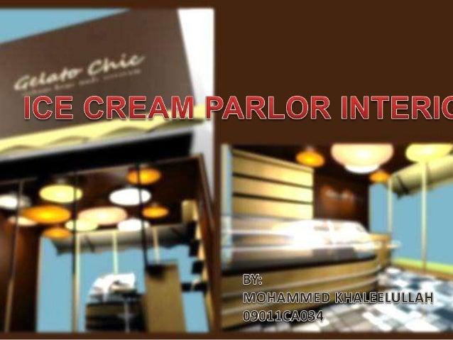 Designing A Ice Cream Parlour