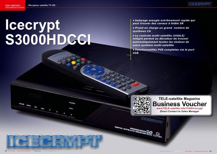 TEST REPORT                          Récepteur satellite TV HD该独家报道由技术专家所作Icecrypt                                        ...