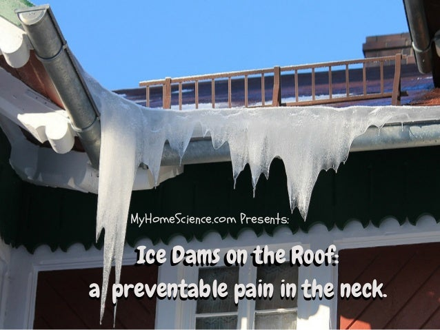 neck  MyHomeScience.com Presents:  Ice Dams on the Roof:  a preventable pain in the neck.