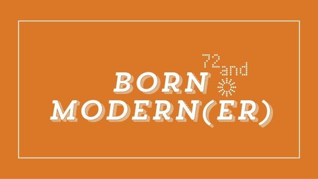 BORN MODERN(ER)