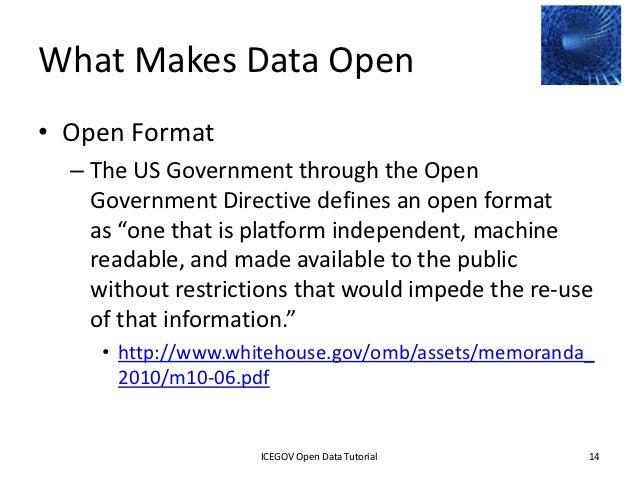 ontario open data directive pdf