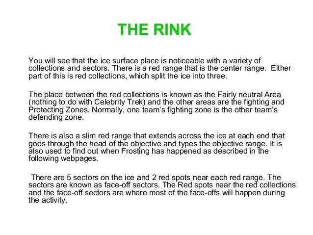 Basic Ice Hockey Rules