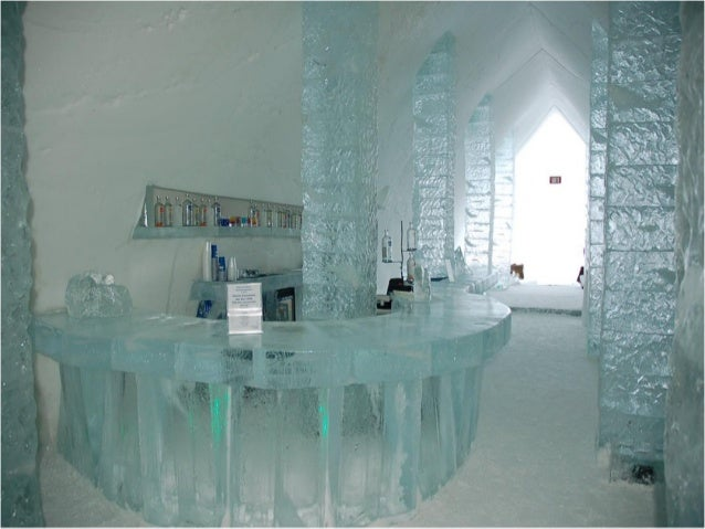 An ice hotel in CanadaAfter melting each spring, the ice hotel is rebuilt every winterin Duchesnais, near Québec. Its 8th ...