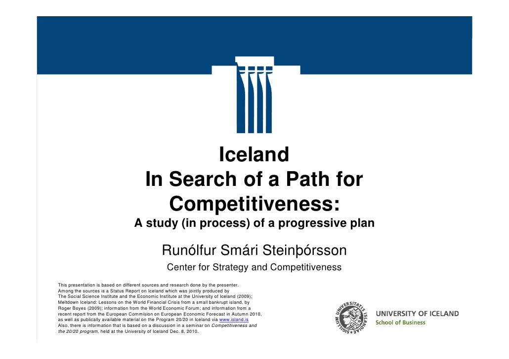 Iceland                                         In Search of a Path for                                            Competi...