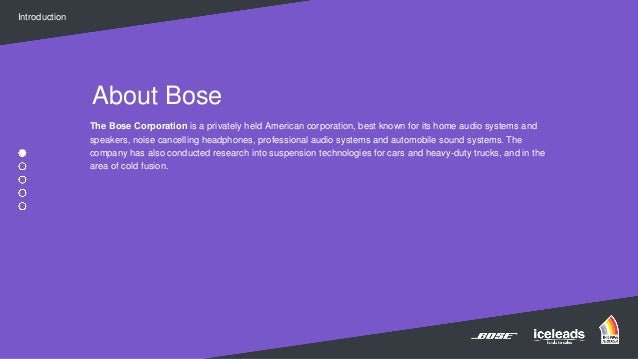Finalist B2B Marketing Awards - New from Bose by Iceleads  Slide 3