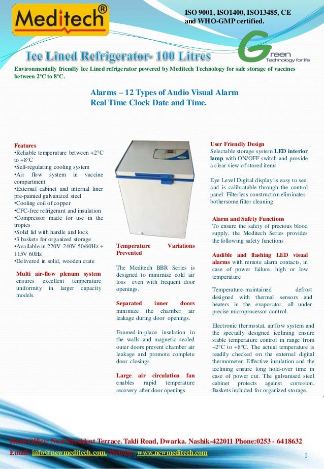 Ice lined refrigerator horizontal economy model