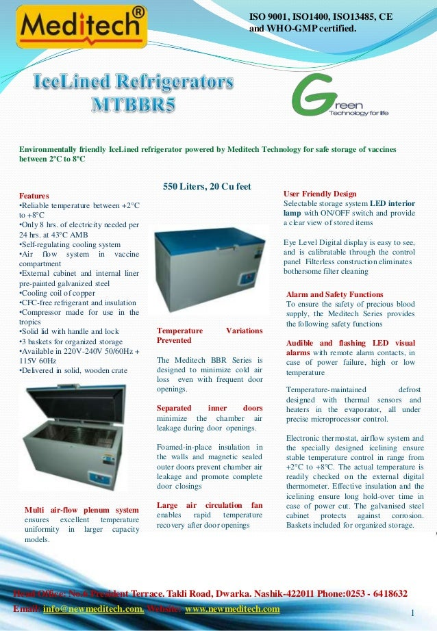 Ice lined refrigerator mtbbr5 550 litres