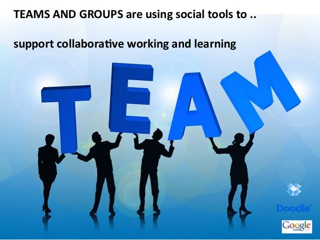 TEAMS	  AND	  GROUPS	  are	  using	  social	  tools	  to	  ..	  	  support	  collaboraBve	  working	  and	  learning	  28