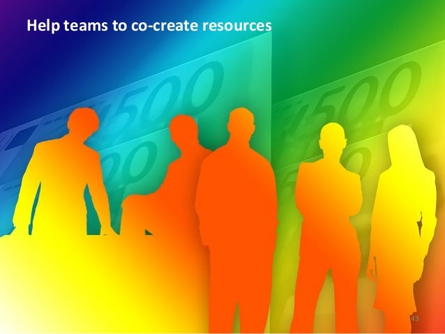 Help teams to co-‐create resources  43