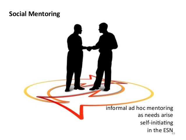 Social	  Mentoring	  informal	  ad	  hoc	  mentoring	  as	  needs	  arise	  self-­‐ini>a>ng	  in	  the	  ESN	  49