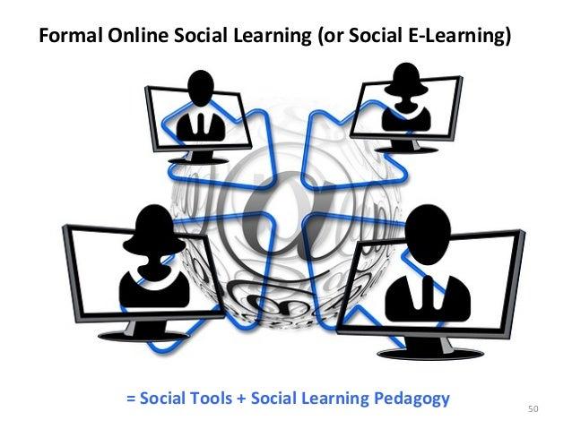 Formal Online Social Learning (or Social E-‐Learning) = Social Tools + Social Learning Pedagogy...