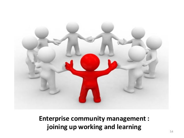 Enterprise community management :  joining up working and learning  54
