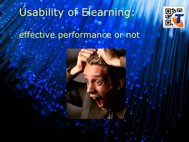 B Usability of Elearning: effective performance or not