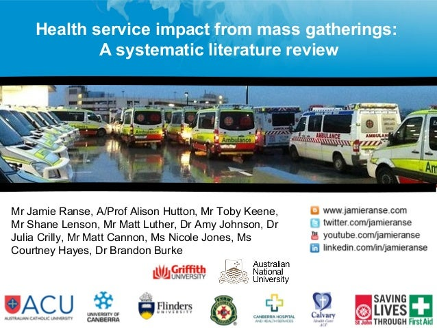 Mr Jamie Ranse, A/Prof Alison Hutton, Mr Toby Keene, Mr Shane Lenson, Mr Matt Luther, Dr Amy Johnson, Dr Julia Crilly, Mr ...