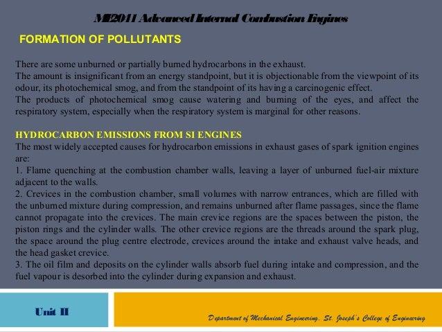 ME2041AdvancedInternal CombustionEnginesUnit II Department of Mechanical Engineering, St. Joseph's College of EngineeringF...