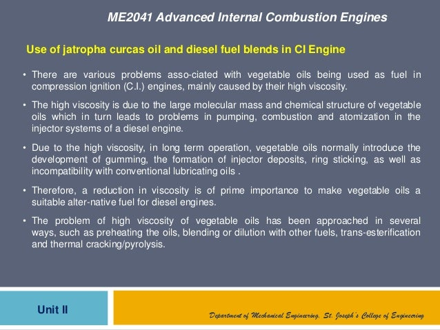 ME2041 Advanced Internal Combustion EnginesUnit II Department of Mechanical Engineering, St. Joseph's College of Engineeri...