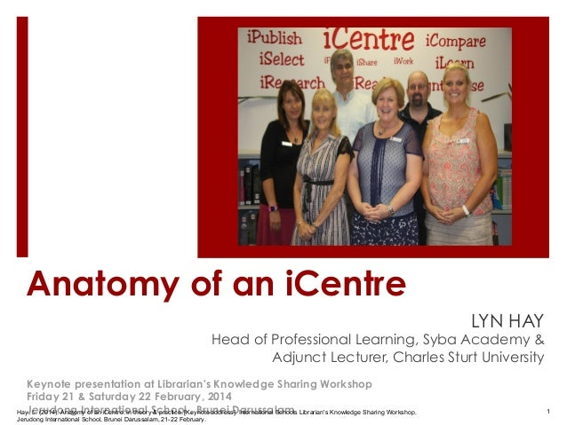 Anatomy of an iCentre LYN HAY  Head of Professional Learning, Syba Academy & Adjunct Lecturer, Charles Sturt University Ke...