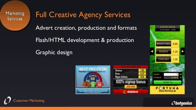 Marketing Marketing Services Services  Full Creative Agency Services Advert creation, production and formats Flash/HTML de...