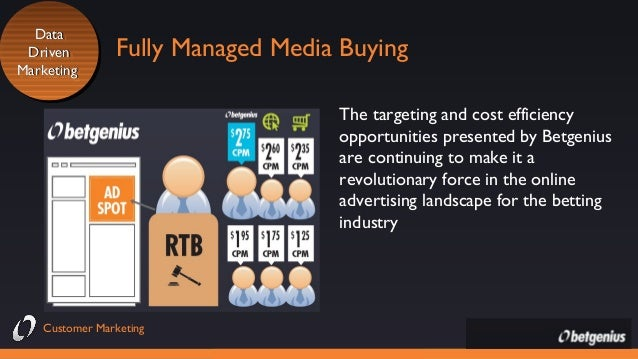 Data Data Driven Driven Marketing Marketing  Fully Managed Media Buying The targeting and cost efficiency opportunities pr...