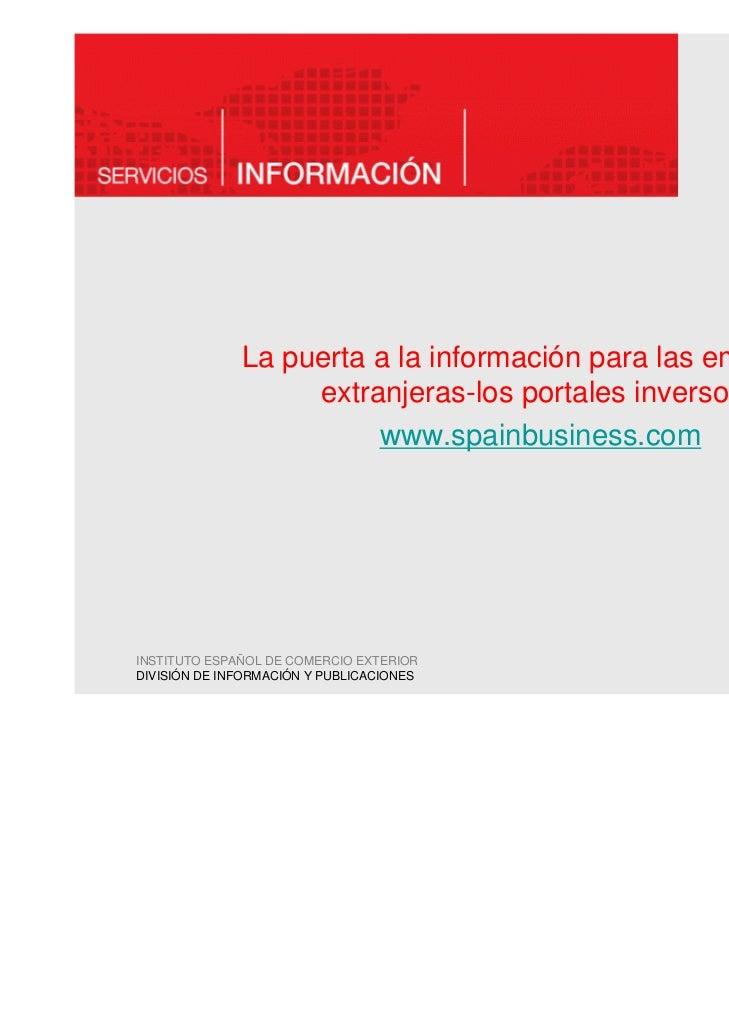 La puerta a la información para las empresas                   extranjeras-los portales inversos:                        w...