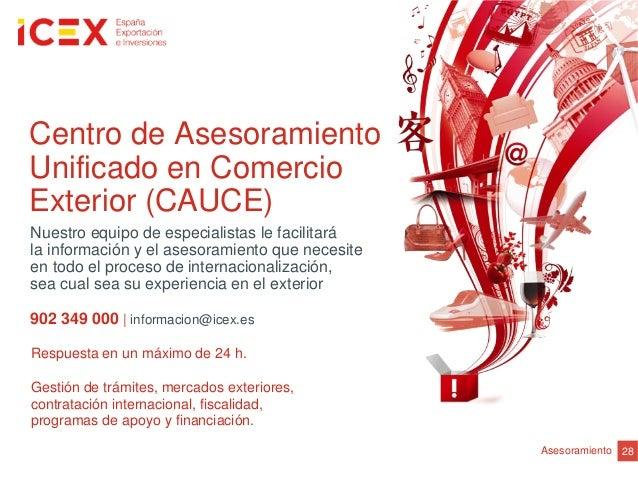 Respuesta en un máximo de 24 h.Gestión de trámites, mercados exteriores,contratación internacional, fiscalidad,programas d...