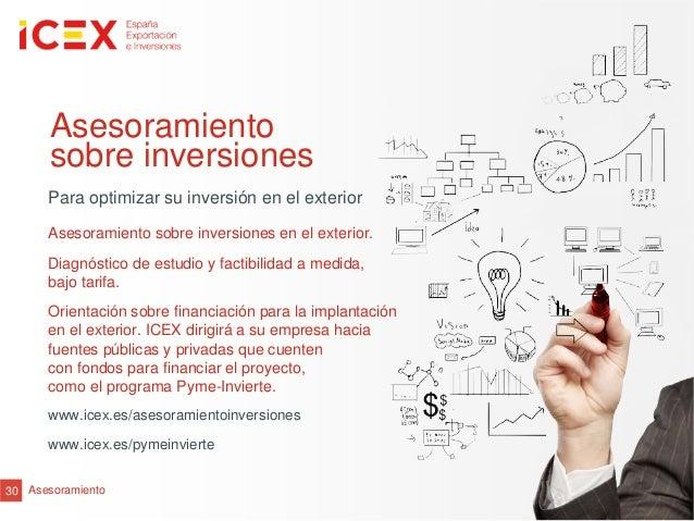 30 AsesoramientoAsesoramientosobre inversionesPara optimizar su inversión en el exteriorAsesoramiento sobre inversiones en...