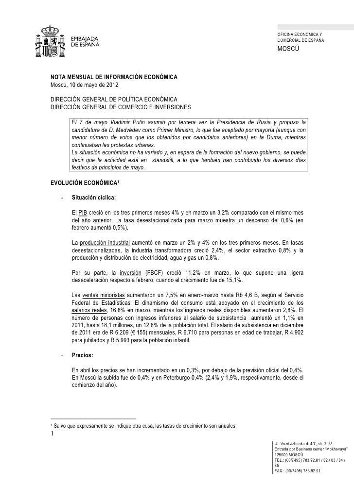 OFICINA ECONÓMICA Y                                                                                                  COMER...