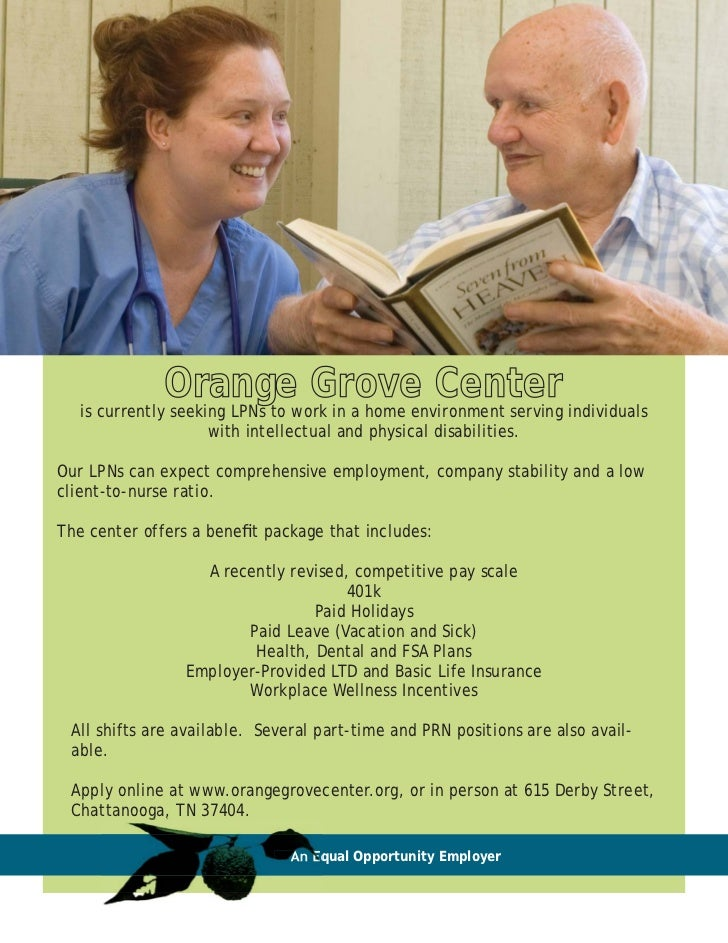 Orangework in a home environment serving individuals   is currently seeking LPNs to                                Grove C...