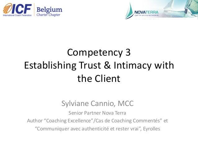 """ICF Synergie : """"Etablir la confiance et l'intimité avec le client"""" de Sylviane Cannio - SLIDEs Slide 2"""