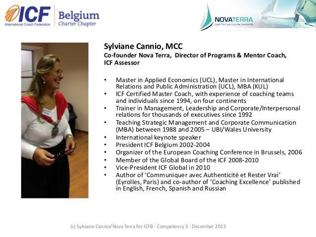 """ICF Synergie : """"Etablir la confiance et l'intimité avec le client"""" de Sylviane Cannio - SLIDEs Slide 3"""