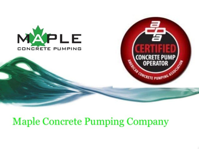 Maple Concrete Pumping Company