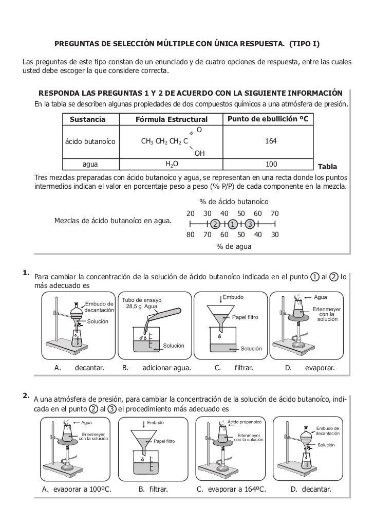 Icfes ejemplode preguntasquímica2010 Slide 2