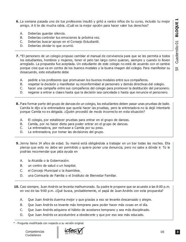 3DEguia_Competencias Ciudadanas 5ºCuadernillo01BLOQUE1 La semana pasada uno de tus profesores insultó y gritó a varios niñ...