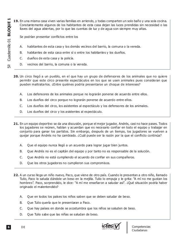 6 DE guia_Competencias Ciudadanas 5ºCuadernillo01BLOQUE1 En una misma casa viven varias familias en arriendo, y todas comp...