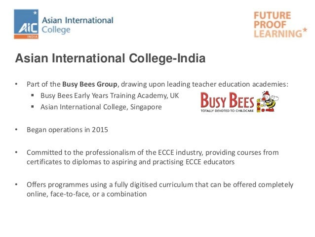 International Certificate in Fundamentals of Early Childhood