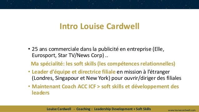 """ICF Synergie : """"Coacher les dirigeants de demain - Le rôle du coaching dans le développement des compétences 2020 dans ce nouveau monde VUCA"""" de Louise Cardwell - SLIDEs Slide 3"""