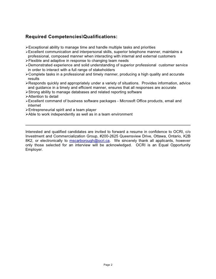 Icg Administrative Assistant Job Description