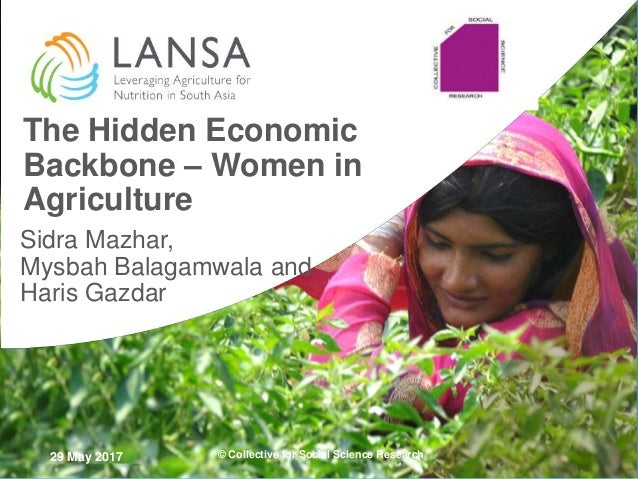 29 May 2017 The Hidden Economic Backbone – Women in Agriculture Sidra Mazhar, Mysbah Balagamwala and Haris Gazdar © Collec...
