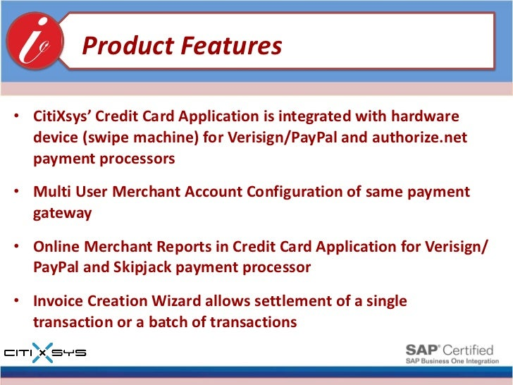 Credit card for sap business one product presentation 11 reheart Images