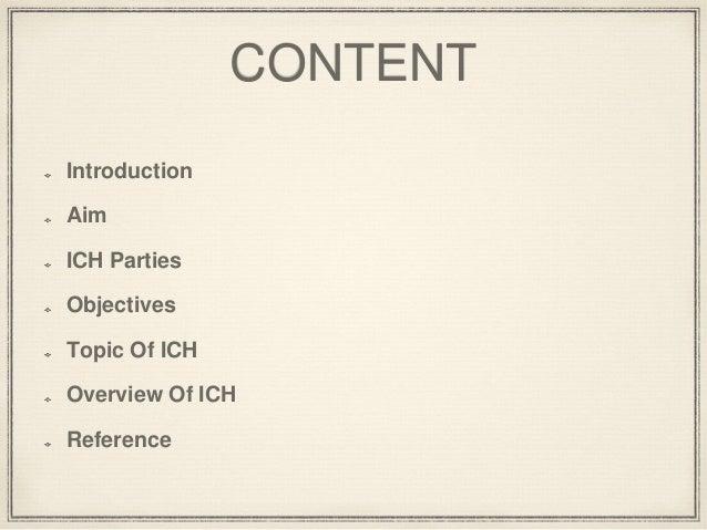 ICH Guidelines Slide 2