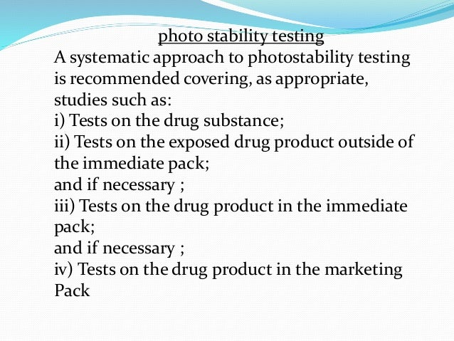 ICH Photostability (Light Study) Testing Services | RD ...
