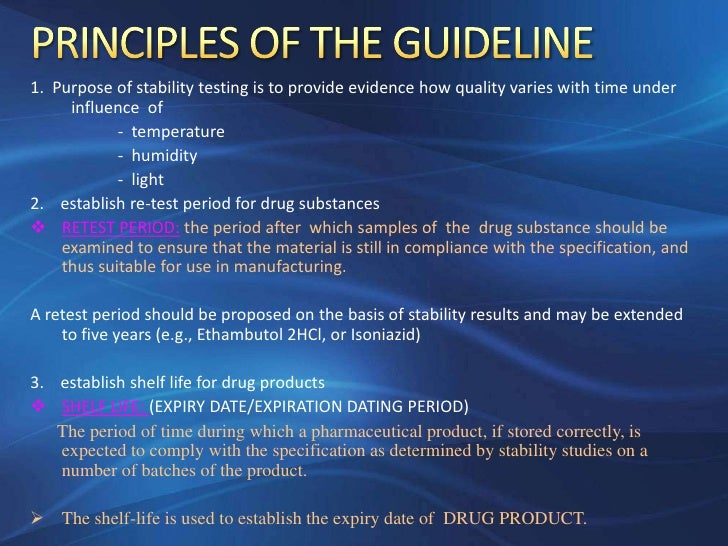 Ich guidelines for stability studies 2