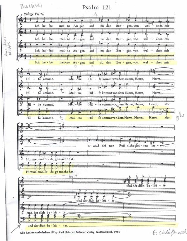 "fl Ruhige Viertel  Psalm  ,~  121  tJ  1  tJ  !~fl  ""'IS~  ,'''.';) ,{i f  , , J J I  Ieh he - be Au-gen auf I den Ber - ...."