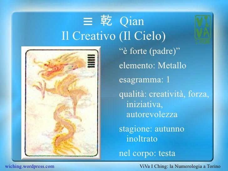 "☰  乾 Qian Il Creativo (Il Cielo) <ul><li>""è forte (padre)"""