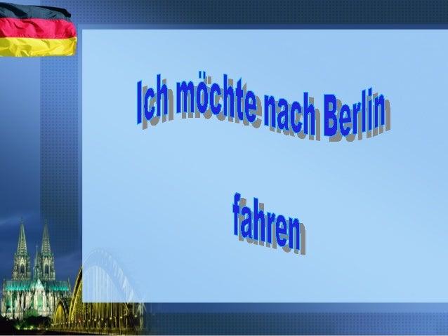 Berlin ist die Haupstadt von Deutschland. Es liegt an der Spree.