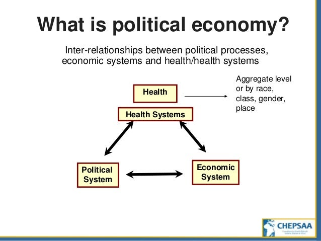what is political economy Political economy in the 19th century the usual name for the academic discipline of economics (see also classical economists), the study of economic processesthe term 'political' economy reflected the fact that economics was then more directly concerned with the interrelation between economic theory and political action than has been true later.