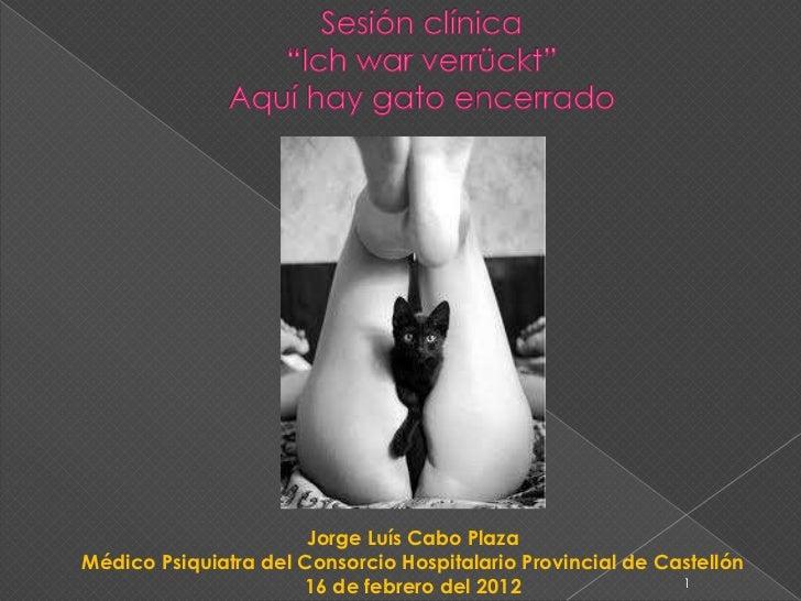 Jorge Luís Cabo PlazaMédico Psiquiatra del Consorcio Hospitalario Provincial de Castellón                      16 de febre...