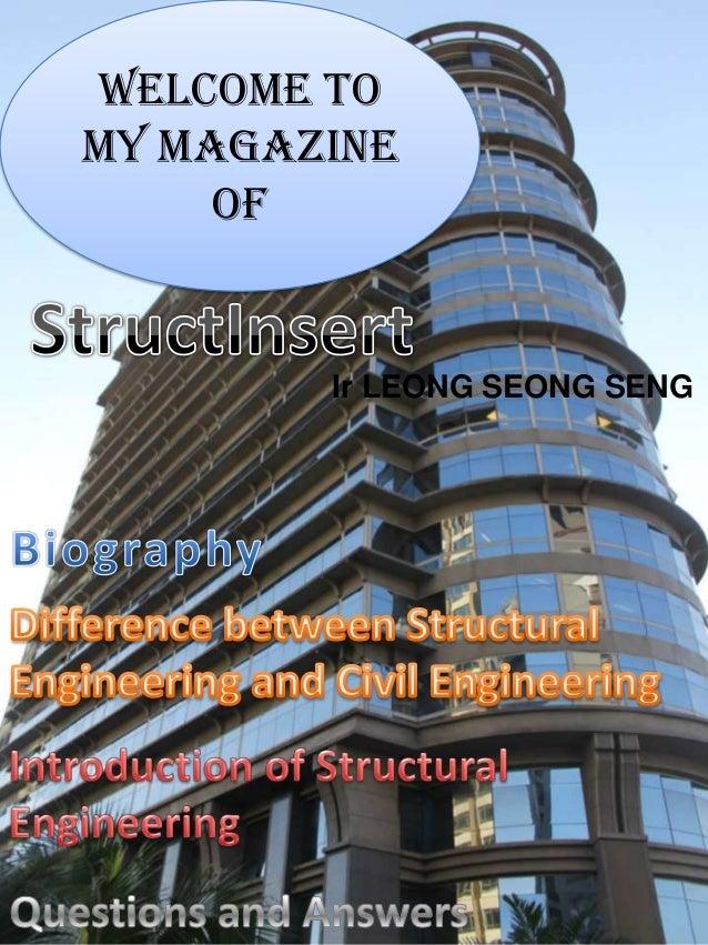 Welcome to my magazine of Ir LEONG SEONG SENG