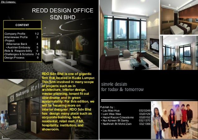 Magazine interior designer for Interior design company